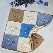 娃娃家2.0儿童钩针方形拼花童毯
