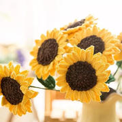 向日葵(4-1)祝福之花系列钩花编织视频教程