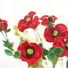 虞美人(4-3)钩针花园祝福之花系列编织视频教程