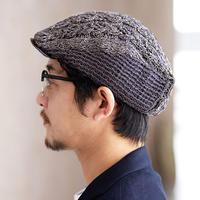 男士钩织结合鸭舌帽编织图解
