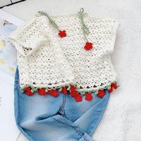 可爱樱花上衣(2-1)可钩亲子款的钩针罩衫编织视频
