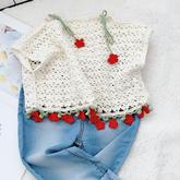 可爱樱花上衣(2-2)可钩亲子款的钩针罩衫编织视频