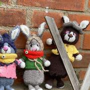 毛毛 萌可爱棒针兔子玩偶编织图解