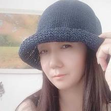 和纸编织女士夏季钩针遮阳帽