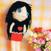 毛線編織衣服可穿脫的鉤針玩偶娃娃編織圖解(含娃衣2套)