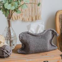 云趣棒针纸巾袋(3-2)北欧风家居编织视频教程