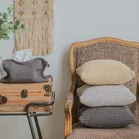 云趣抱枕纸巾袋编织密度(3-3)北欧风家居编织视频教程