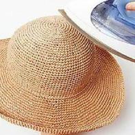让手工编织的棉草帽更有型的3个细节处理小技巧