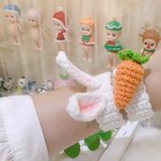 可爱兔子胡萝卜手环 新手钩针编织视频教程