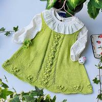 娃娃家2.0儿童棒针圆领背心裙