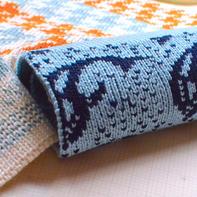 不同编织机双面提花编织的效果与区别