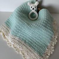 娃娃家2.0钩针蕾丝花边婴儿毯