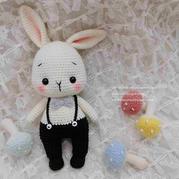 呆桃兔 娃娃家2.0钩针兔子玩偶编织图解