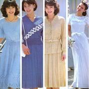 八十年代的如花美裙依然动人 4款女士棒针裙装图解