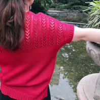 橡树山 云清女士棒针镂空半袖套衫