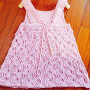 涟漪 娃娃家功能线儿童棒针系带背带裙