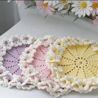 创意毛线钩针花朵杯垫编织视频教程