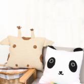 熊猫抱枕套(2-2)创意毛线卡通抱枕编织视频教程