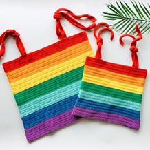 彩虹吊带背心(2-1)亲子款成人款钩针编织视频