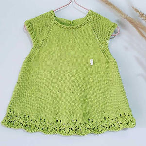 娃娃家2.0儿童棒针香水草花样婴儿背心