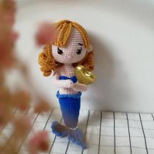娃娃家2.0甜美可爱钩针美人鱼玩偶