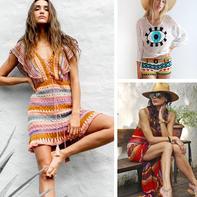盛夏专属休闲个性钩衫与连衣裙(3-2)加拿大服饰品牌钩衣款式