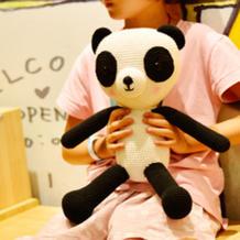 萌可爱钩针熊猫编织视频教程(2-2)可以做宝宝玩具喔