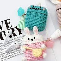 兔子 恐龙(5-4)创意毛线AirPods卡通保护套编织视频教程