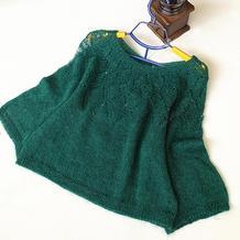 马海铃兰 从上往下织女士棒针育克圆肩羊毛马海毛衣