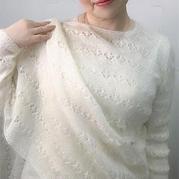 女侠 仿欧美图解翻译的一款超仙的女士棒针马海仙衣