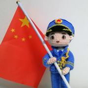 帥帥的軍旅玩偶 鉤針人形娃娃編織圖解