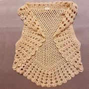 煎餅 女士鉤針五邊形桌布衣式馬甲背心