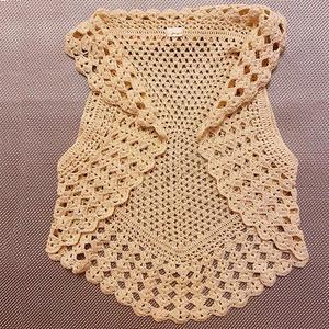 煎饼 女士钩针五边形桌布衣式马甲背心