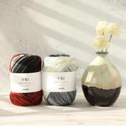 十刻景色 手編中粗段染美麗諾羊毛線