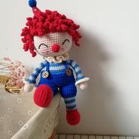 娃娃家2.0可爱的钩针小丑玩偶