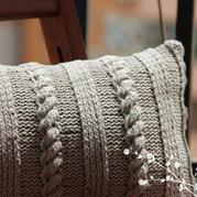 灌芯线棒针织素雅车枕腰枕套抱枕套