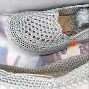 淺口鞋鞋面(3-2)手工編織鉤針春夏淺口涼鞋編織視頻教程