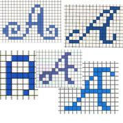 五组英文字母数字编织图案