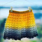 小太陽 三歲女童段染線鉤針蛋糕裙