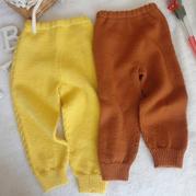 寶寶毛褲織法 基礎款兒童棒針封襠褲編織視頻教程