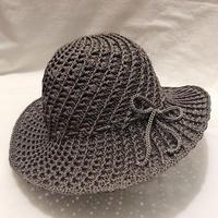 夏季冰丝线女士钩针螺旋遮阳帽 (附帽顶直径算法)
