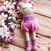公益编织娃娃家2.0萌可爱钩针猫小姐