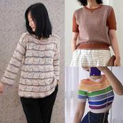 202129期周热门编织作品:女士儿童春夏手工编织服饰12款