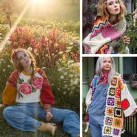 复古风祖母方格拼布风格钩编衣饰 被拯救的纺织艺术