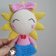 可爱钩针向日葵精灵 毛线编织玩偶图解