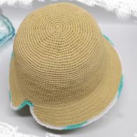 荷韵渔夫帽(2-1)后开口女士钩针夏凉帽遮阳棉草帽编织视频教程