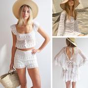 """這個夏天的""""小白""""到位了嗎?(3-3)加拿大服飾品牌清爽白色鉤針蕾絲衣"""