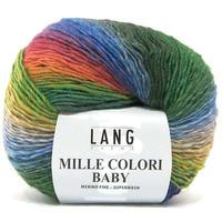 LANG花蜜儿宝贝(FWLA3845)瑞士狼段美丽诺羊毛线段染披肩围巾线