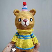 娃娃家2.0钩针小熊Elliot及图解