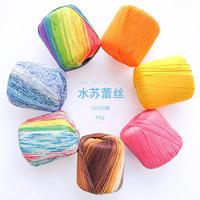 水苏蕾丝线 手工编织钩针棉线段染线钩针3号蕾丝手编线